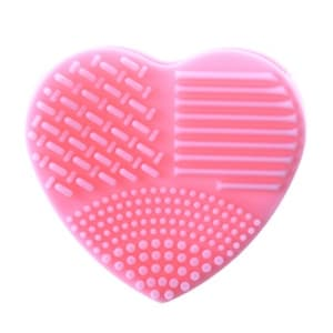 839 Makeup Brush Cleaner Heart - Pink